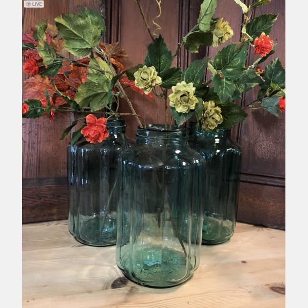 Vintage glass pickle jar