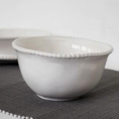 Dove Grey Rose Maria Cereal Bowl