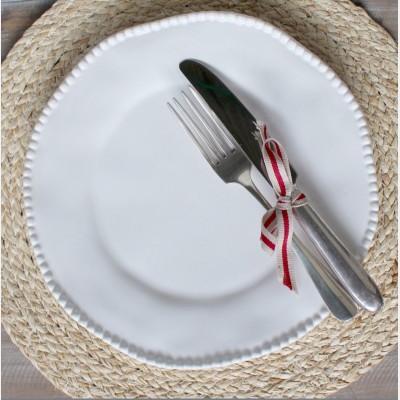 White Rose Maria Dinner Plate