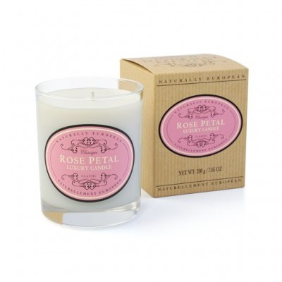 Naturally European Scented Candle rose petal