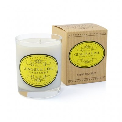 Naturally European Scented Candle ginger & lime