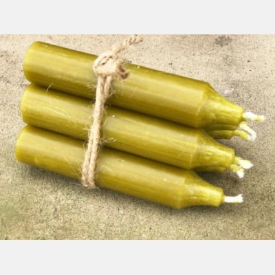 Stubby Candles olive