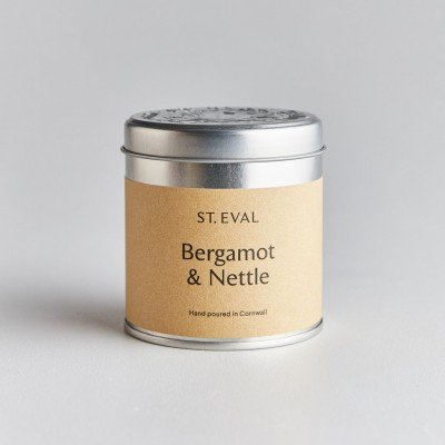 Bergamot & nettle tin candle